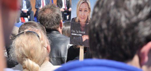Discret mais bien présent, le FN à quelques mois de la présidentielle. Blandine Le Cain/Flickr, CC BY